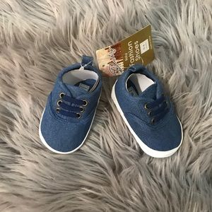NWT Baby denim shoes 0-6 months